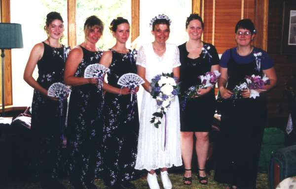 The girls in the wedding party.